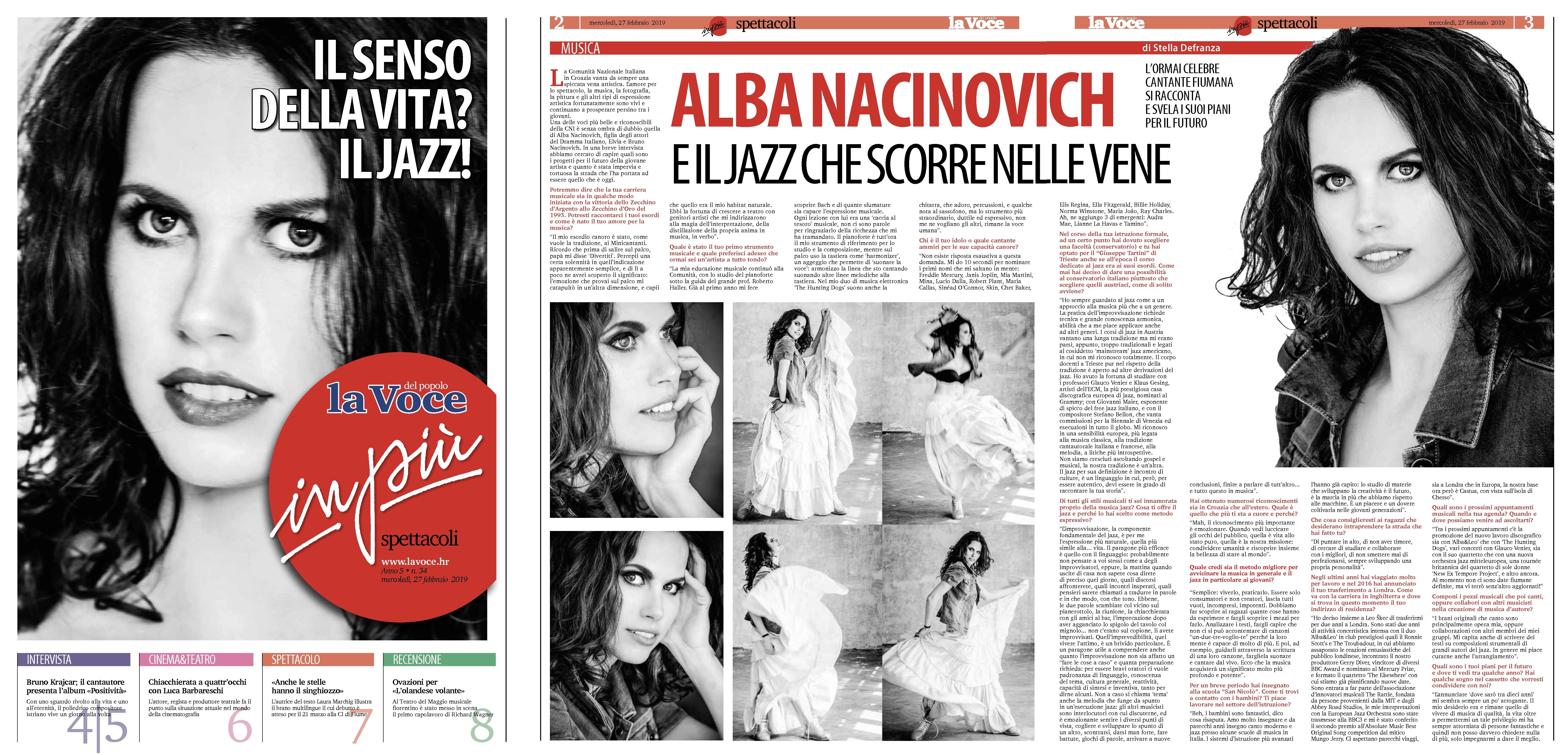 Alba Nacinovich La Voce in più Spettacoli
